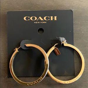 BNWT Coach Hoop Earrings